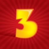 Nr. drei Lizenzfreies Stockbild