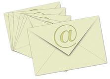 Nr. Email 7 en el fondo blanco Imagenes de archivo