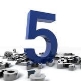 Nr. fünf Lizenzfreies Stockfoto