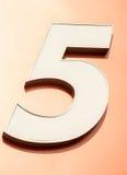 Nr. fünf Lizenzfreies Stockbild