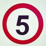 Nr. fünf lizenzfreie stockfotos