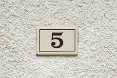 Nr. fünf von Informationen Lizenzfreie Stockfotos