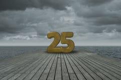 Nr. fünfundzwanzig lizenzfreie stockfotos