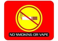 Nr - het roken of dampteken royalty-vrije illustratie