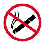 Nr - het roken geïsoleerde tekenvector Royalty-vrije Stock Afbeelding