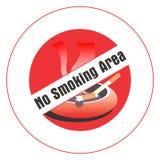 Nr - het roken gebied. Stock Afbeelding