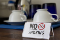 Nr - het roken gebied bij bar royalty-vrije stock fotografie
