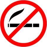 Nr - het roken, sigaret belemmerd symbool Vector Royalty-vrije Stock Fotografie
