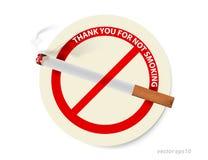 Nr - het roken tekenvector Stock Afbeelding