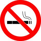 Nr - het roken tekenvector vector illustratie