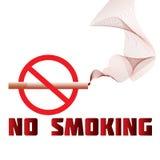 Nr - het roken waarschuwing Stock Afbeelding