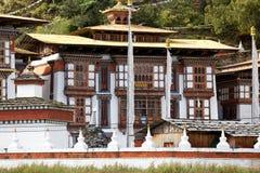 Nr Jakar do monastério de Kurjey Lhakhang, vale de Bumthang, Foto de Stock Royalty Free