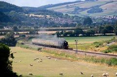 Nr 34052 Lord Dowding Steam Train royalty-vrije stock foto