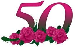 Nr. 50 mit Blumen stock abbildung