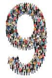 Nr. neun 9 Gruppe von Personen lizenzfreie stockfotos