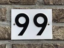 Nr. neunundneunzig - 99 Lizenzfreies Stockfoto