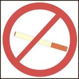 nr. - rökande symbol royaltyfri illustrationer