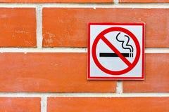 Nr. - rökande tecken Royaltyfri Bild