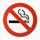 Nr - rokend embleem. royalty-vrije stock afbeeldingen