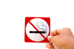 Nr - rokend symbool Royalty-vrije Stock Afbeelding