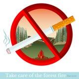 Nr - rokend symbool met sigaret in rode cirkel Royalty-vrije Stock Afbeeldingen