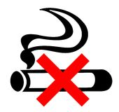 Nr - rokend teken vector illustratie