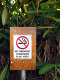 Nr - rokend Teken Stock Foto