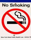 Nr - rokend Teken in New York Stock Foto's