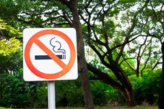 Nr - rokend teken Stock Foto's