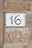 Nr. sechzehn Stockbild