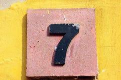 Nr. sieben Stockbild