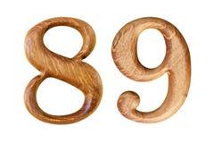 Nr. 8 und 9 Gemacht vom Holz Lizenzfreies Stockfoto