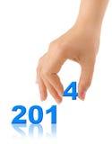 Nr. 2014 und Hand Lizenzfreies Stockfoto