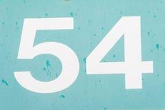 Nr. 54 vierundfünfzig alte Metallhintergrundbeschaffenheit Stockbild