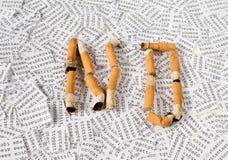 Nr voor het roken, ja voor gezondheid royalty-vrije stock fotografie