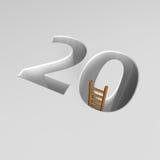 Nr. zwanzig und Leiter Lizenzfreie Stockfotos