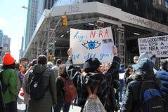 NRA, Marzec dla Nasz żyć, protest, NYC, NY, usa Obrazy Royalty Free