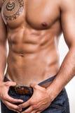 Närbild av de buk- musklerna Royaltyfri Bild