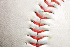 Närbild av sliten baseball Arkivfoton