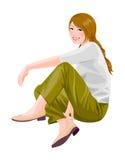 Sidan beskådar av kvinna Royaltyfria Foton