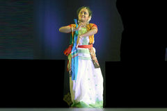 舞蹈印第安nrityotsav rabindra 库存照片