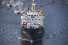 Nrk are sailing with the old ms ragnvald jarl, in ringdalsfjord Stock Photography