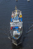 Nrk are sailing with the old ms ragnvald jarl, in ringdalsfjord Royalty Free Stock Photography