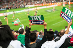NRL semi-final fans Royalty Free Stock Photos