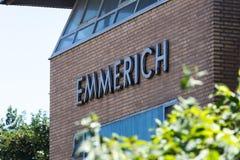 Nrw Alemanha do sinal da cidade de Emmerich Imagens de Stock Royalty Free