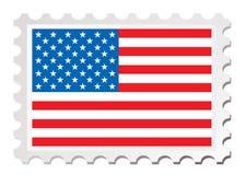Nós cartão da bandeira Imagem de Stock