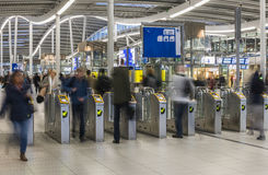 NS Central Station Utrecht, Gates Stock Image