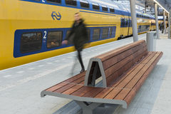NS Central Station Utrecht, Passenger and Bench Royalty Free Stock Images