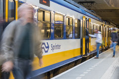 NS Central Station Utrecht, Passenger Royalty Free Stock Image