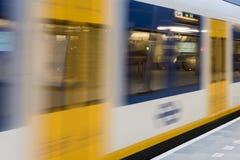 NS Central Station Utrecht, Sprinter Train Royalty Free Stock Photos